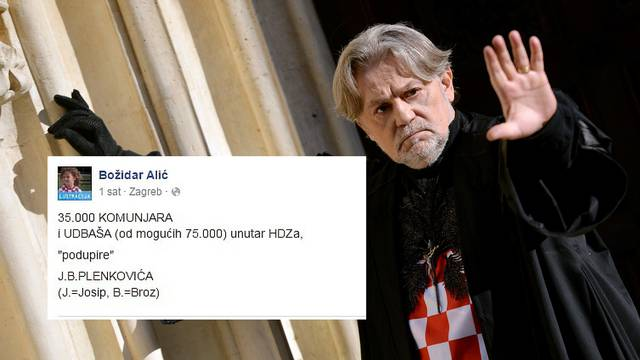 """Alić: """"Plenkovića podržava 35.000 komunjara i udbaša"""""""