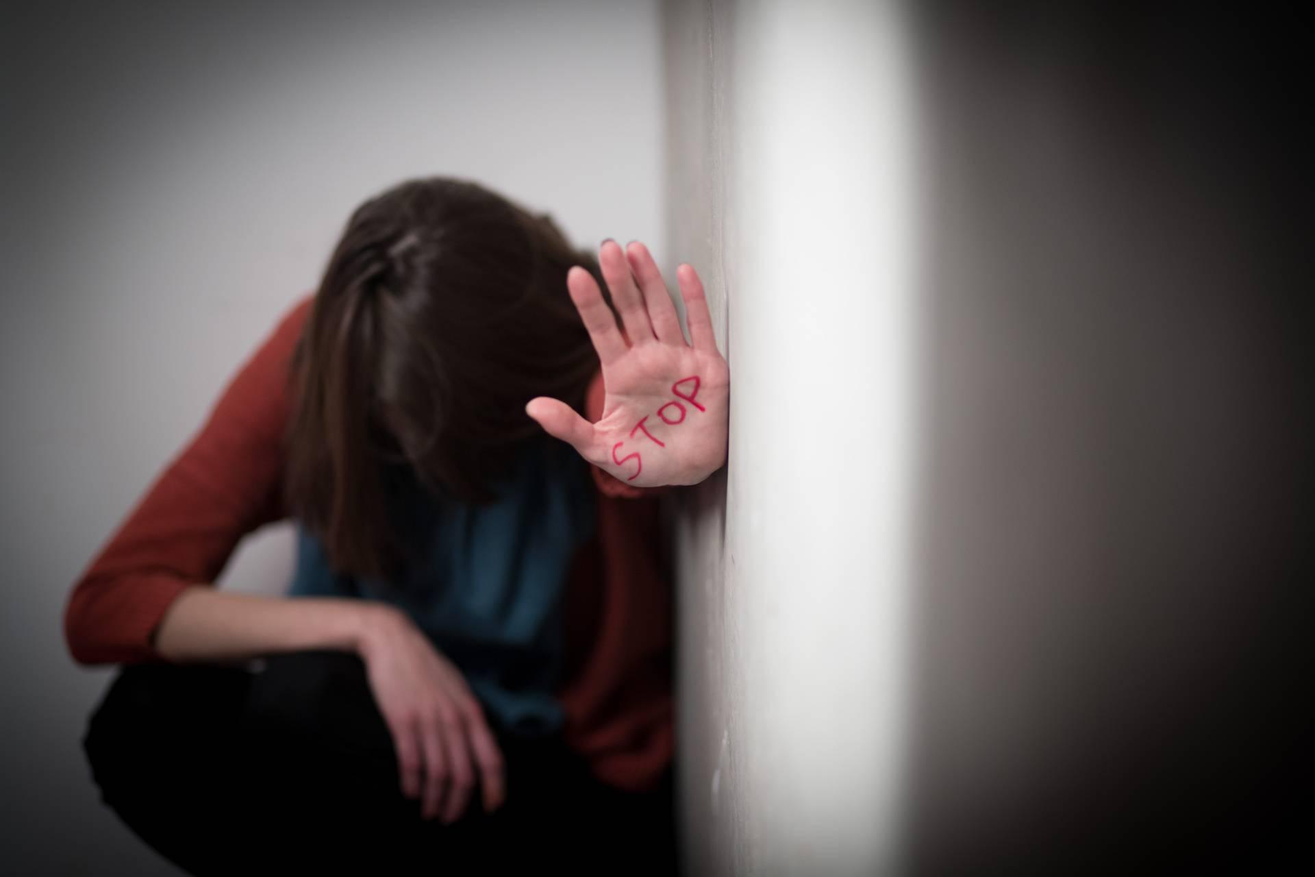 Ilustracija zlostavljanja žene