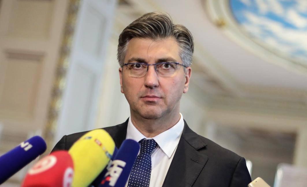 Zagreb: Andrej Plenković dao je izjavu medijima u Saboru