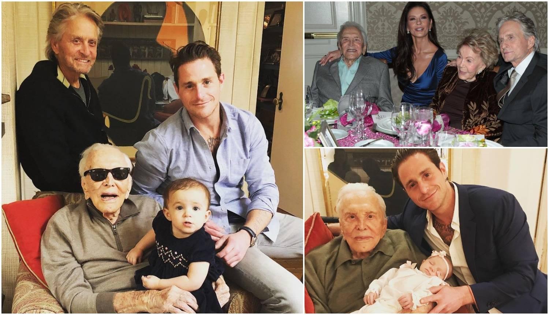 Četiri generacije Douglasa na okupu: 'Obitelj ti je predivna...'