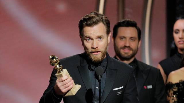 """Ewan McGregor winner Best Performance by an Actor in a Television Limited Series or Motion Picture Made for Television """"Fargo"""" at the 75th Golden Globe Awards in Beverly Hills"""