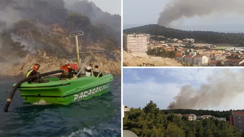 Lokaliziran požar: Evakuirali su ljude čamcima jer gori oko staze