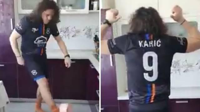 Karić se i s 46 igra nogometa: Tehnicirao s rolom WC papira