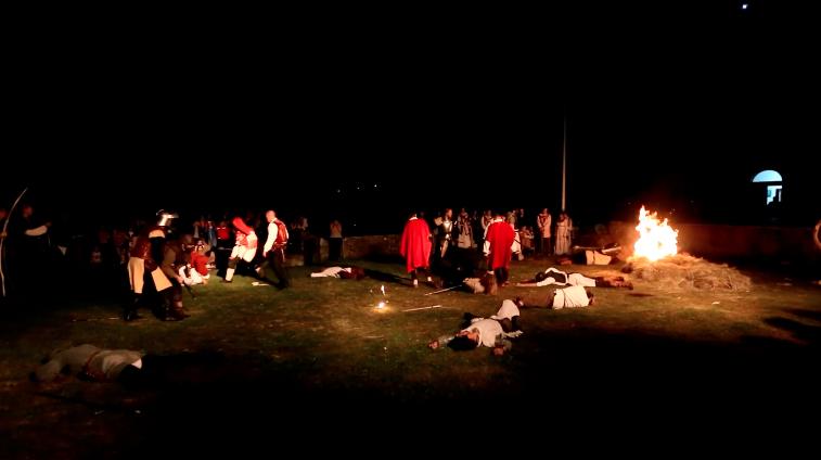 Vatreni spektakl za kraj slavlja 8. Zvonimirovih dana u Kninu