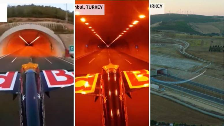 Show kod Istanbula: Avionom proletio kroz tunel 245 km/h