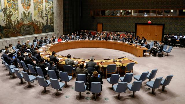 The United Nations Security Council meets on the situation in the Middle East, including Palestine, at U.N. Headquarters in New York