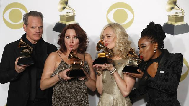60th Annual Grammy Awards – Photo Room – New York