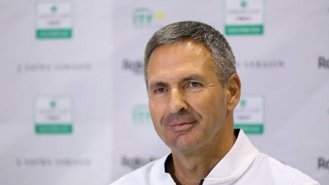 Zagreb: Izbornik hrvatske teniske reprezentacije Vedran Martić održao konferenciju ma medije