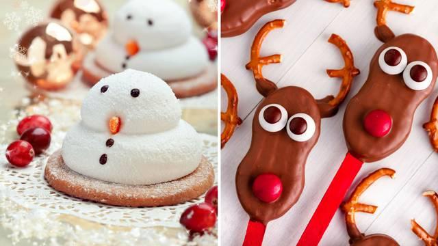 Božićni keksi: Napravite super zabavne snjegoviće i sobove