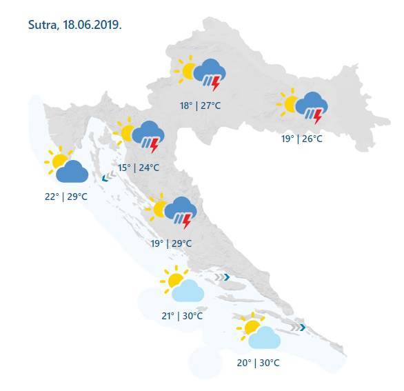 Kakvo vrijeme čeka Hrvatsku nakon oluje, tuča i pijavica?