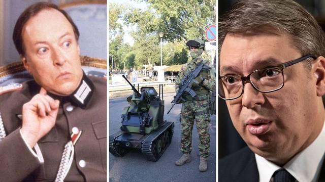Aleksandar Vučić kao poručnik Gruber: Ovo je moj mali tenkić