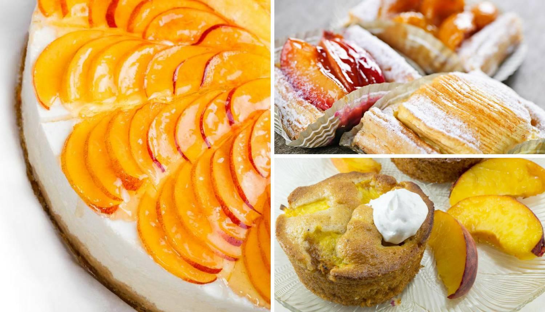 Sočne poslastice s breskvama: Muffini, savijača ili cheesecake