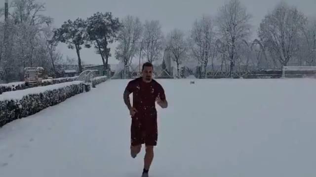 Neuništivi Ibra brzo se oporavio i trenirao - po dubokom snijegu