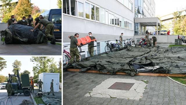 Vojska na Rebru podiže grijane šatore, koristit će ih kod trijaže