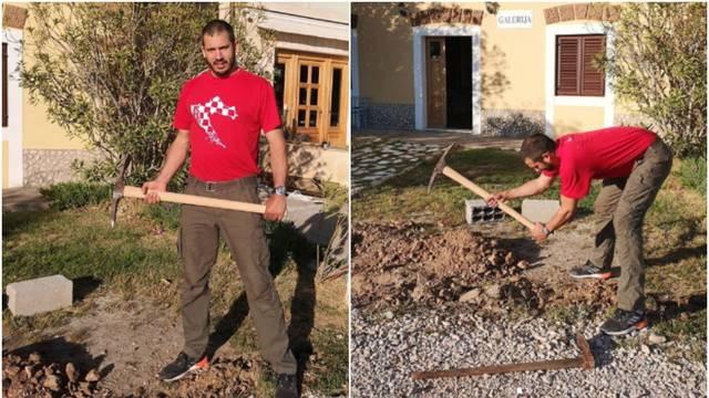 Kad nema gaža, onda suprug Doris Pinčić ide kopati kanale