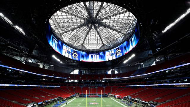 FILE PHOTO: Mercedes Benz Stadium is seen during preparations ahead of Super Bowl LIII in Atlanta