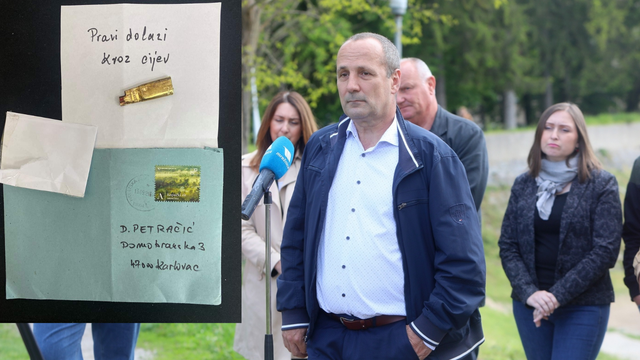Petračić prijavio policiji da je dobio  pismo sa čahurom: 'Nije me strah, ali mi nije ugodno'
