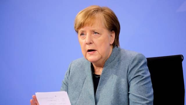 Merkel: Ograničavanje mjera treba ići u tri faze, treba se više testirati i mjeriti slučajeve...
