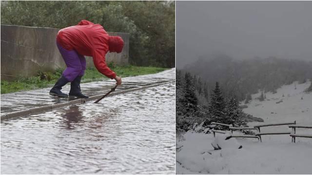 Na Velebitu i Dinari pao je prvi snijeg, Vodice se borile s kišom