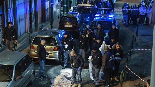 Camorra's ambush, a 54-year-old woman, Annamaria Palmieri, was killed in an ambush in via del'Alveo Artificiale, in the district of San Giovanni a Teduccio in Naples.