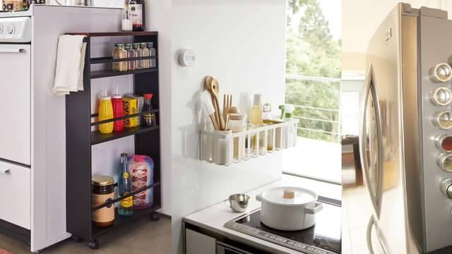 Stvorite ekstra prostor u kuhinji uz police i limenke s magnetima