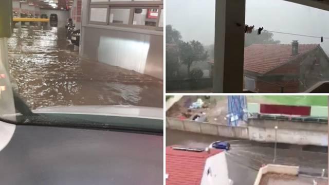 Posljedice nevere u Dalmaciji: Poplavile garaže u Šibeniku