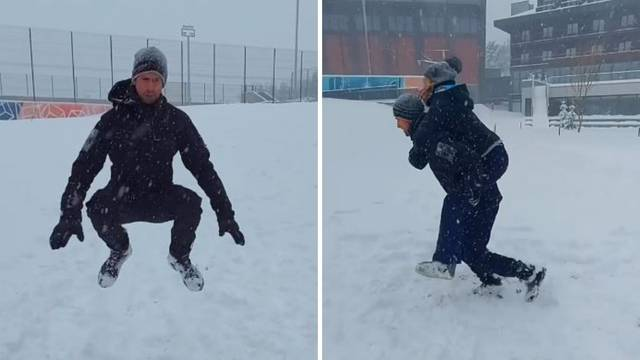 Đoković kao Rocky: Trenira po snijegu i uživa poput djeteta
