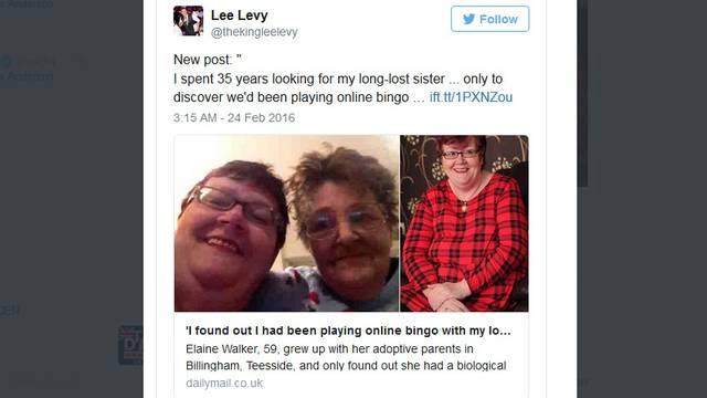 Tražila sestru 35 godina, a već osam godina s njom igra igricu