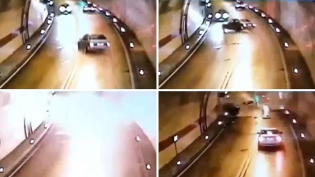 Stravična snimka iz tunela Sv. Ilija: BMW izravno udario u C4