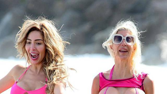EXCLUSIVE: Farrah Abraham celebrates her 29th birthday with her new puppy Billionaire at the beach!