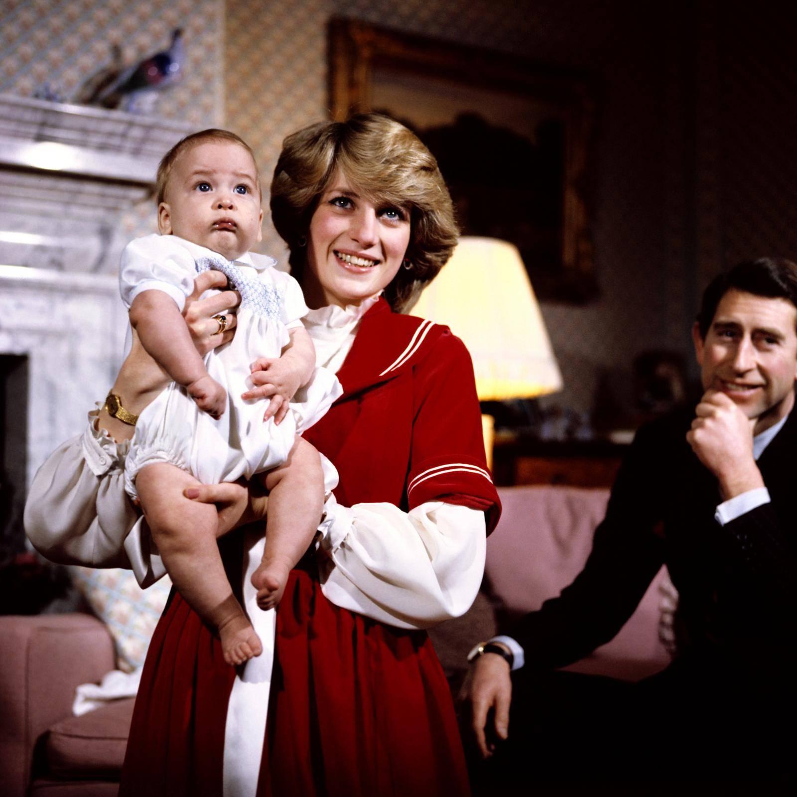 The Prince Charles and Princess Diana at Buckingham Palace