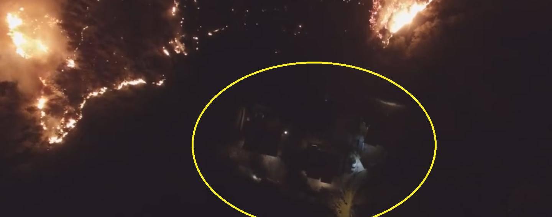 Metri do katastrofe: Pogledajte koliko je vatra bila blizu kuća...