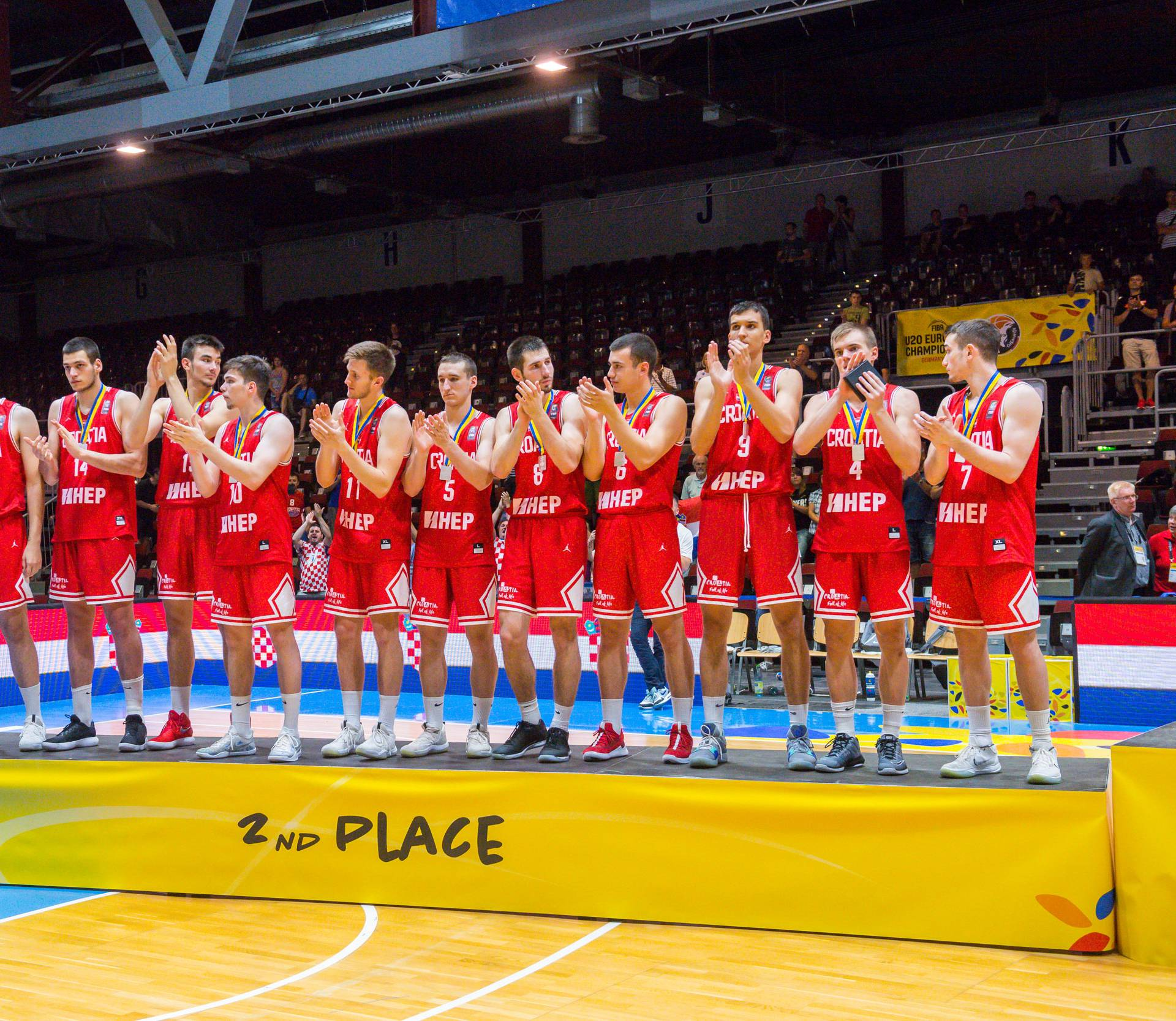 GER, Basketball EM 2018 U20 Männer/Maenner in Chemnitz, Finale Israel vs. Kroatien