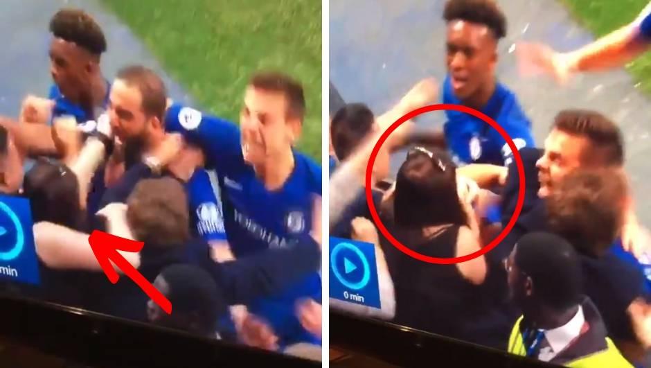 Higuain zabio gol pa završio na grudima djevojke iz publike...