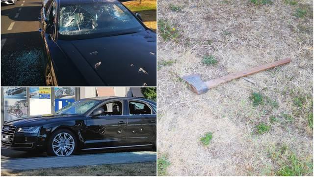 Sjekirom uništio Audi: 'Nosio ju je preko ramena, počeo udarati, pa nazvao policiju i pričekao ih'