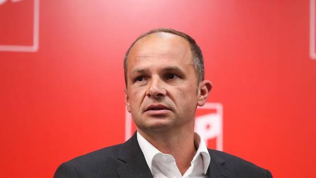 Zagreb: Konferencija kandidata za predsjednika SDP-a Peđe Grbina