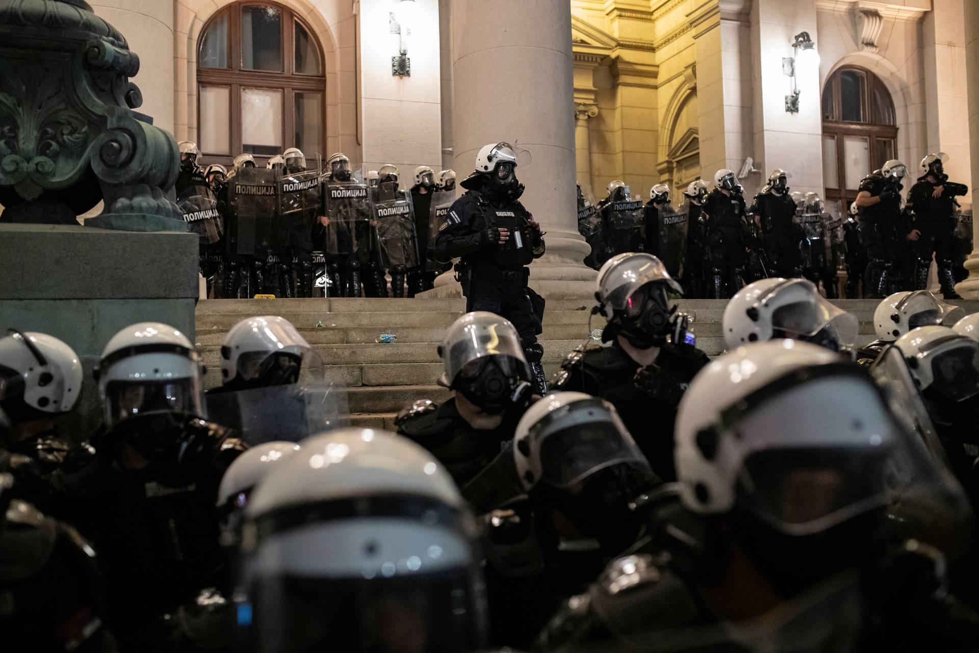 Protest amid the spread of the coronavirus disease (COVID-19) in Belgrade