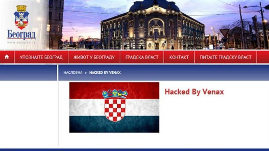 Hakeri su postavili hrvatsku zastavu na stranicu Beograda