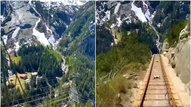 Snimio je vožnju žičarom kroz švicarske planine i oduševio sve
