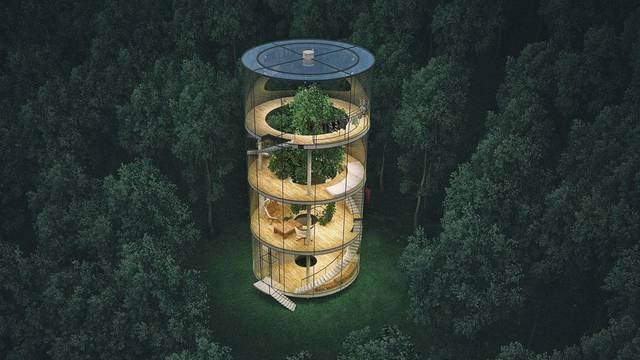 Arhitekt dizajnirao kuću oko ogromnog drveta u Kazahstanu