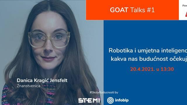 Znanstvenica Danica Kragić Jensfelt govorit će o robotima samo za učenike u Hrvatskoj