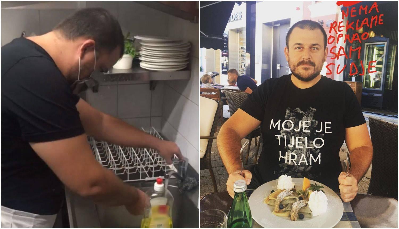 Kotiga od 'spornog' restorana dobio palačinke: Prao sam suđe