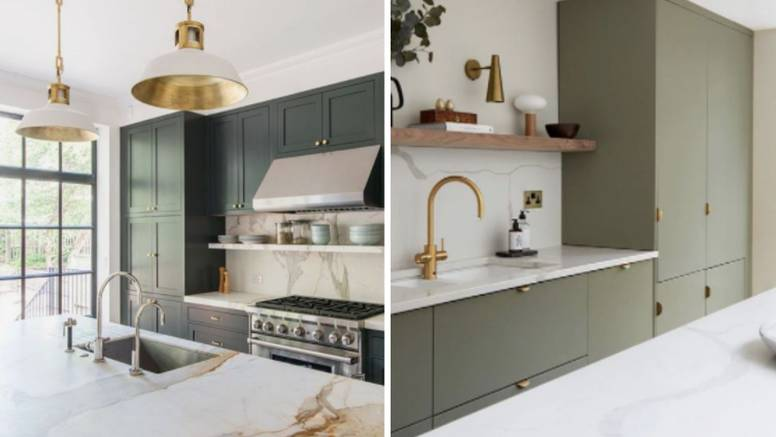 Zelena boja je in za kuhinju: Super se slaže s drugim bojama
