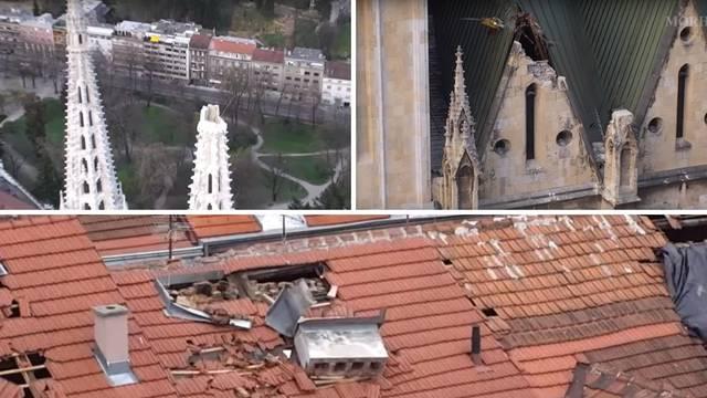 Zagreb: Dronovi HV-a pomažu u utvrđivanju štete potresa