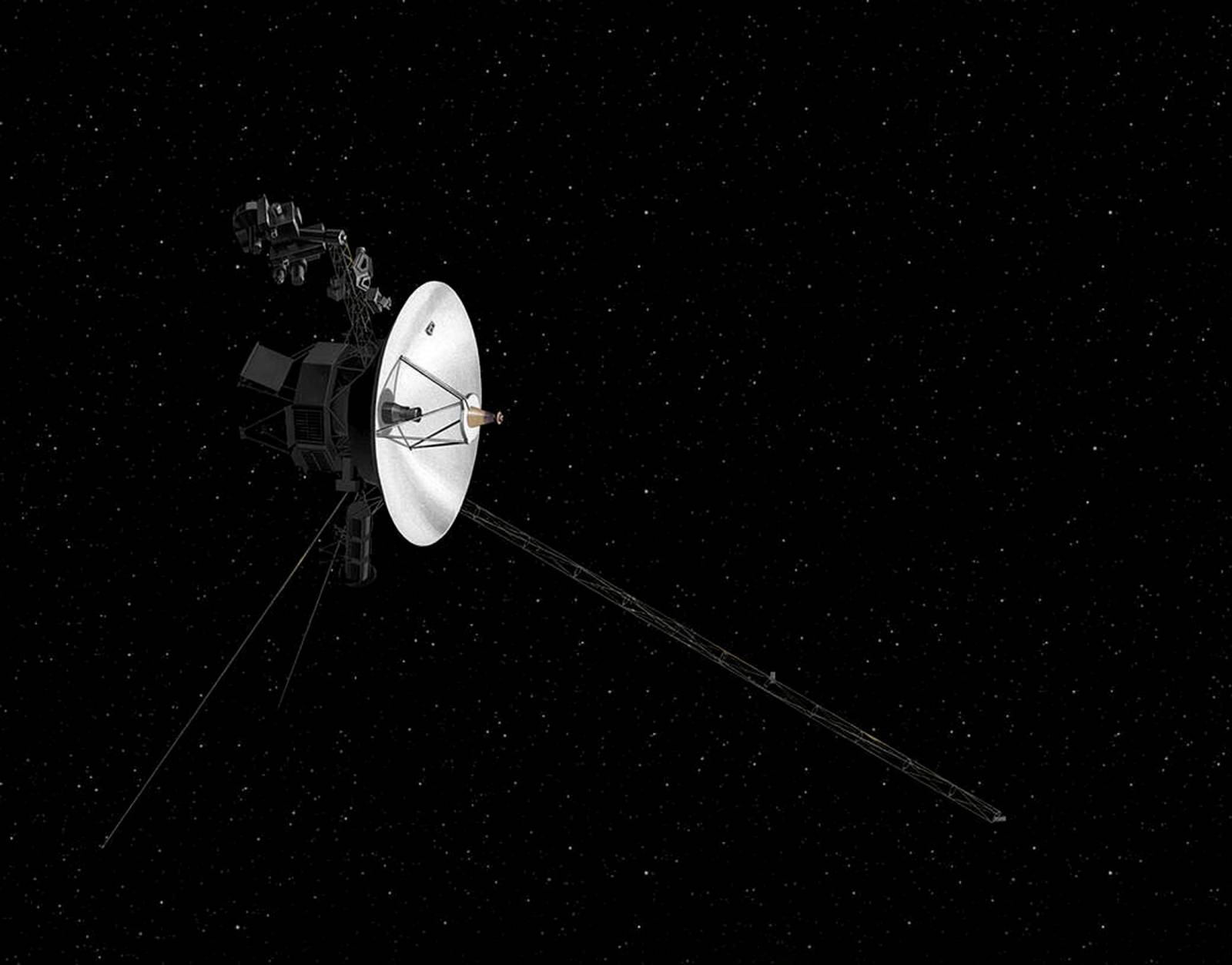 FILE PHOTO: An illustration of NASA's Voyager spacecraft in space
