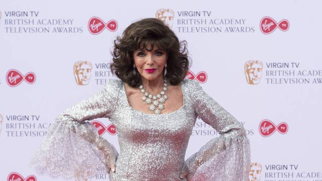 Joan Collins attends the Virgin TV British Academy Television Awards at Royal Festival Hall. London, UK. 14/05/2017