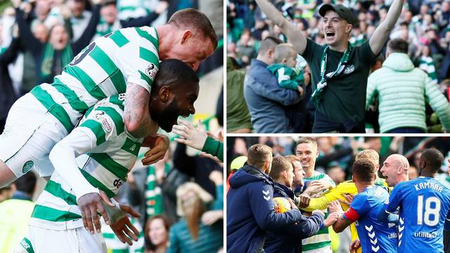 Celticu Old Firm, navijač je s bebom utrčao na teren slaviti