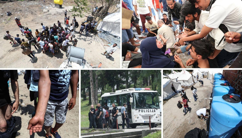 Migranti u Vučjaku: 'Nemamo hrane, liječnika, čak ni toalet'