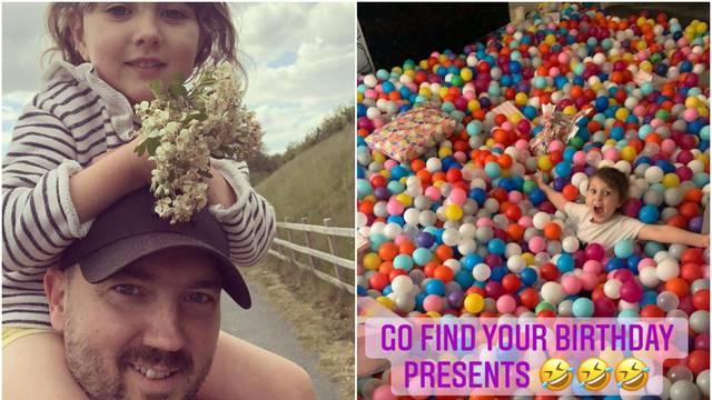 Kćeri za rođendan napunio sobu lopticama: Na kraju nisam znao tko je veće dijete,  ona ili ja