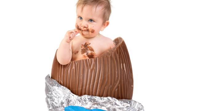 Baby inside an Easter egg